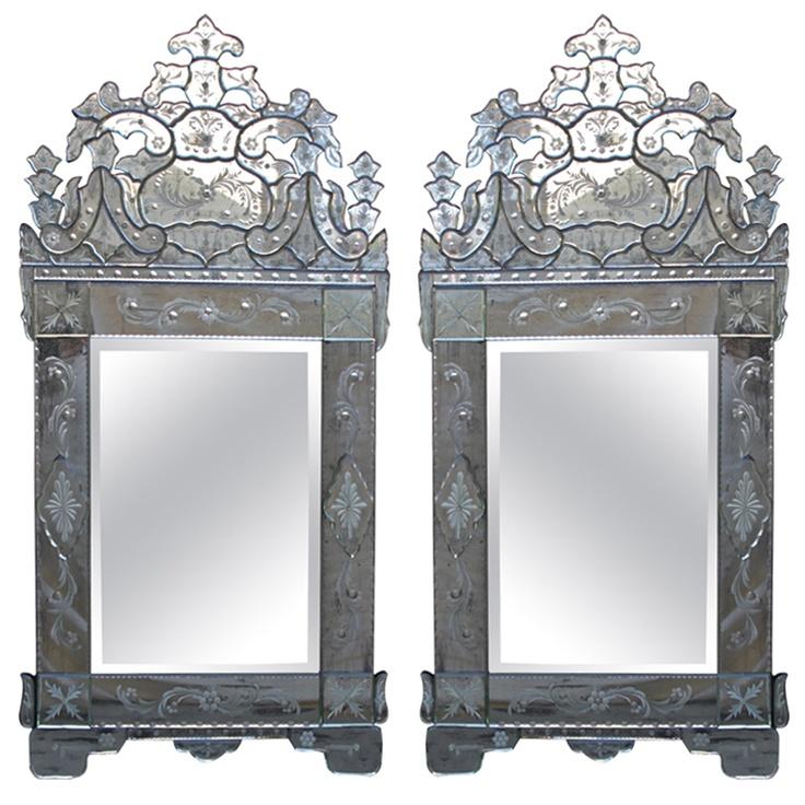 Amazing Antiqued Etched Venetian Mirrors Luxury - Beautiful venetian glass mirror HD