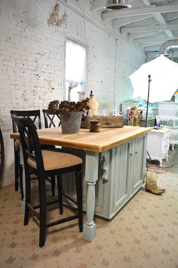 Painted Cottage Chic Shabby Hand Made Farmhouse Kitchen