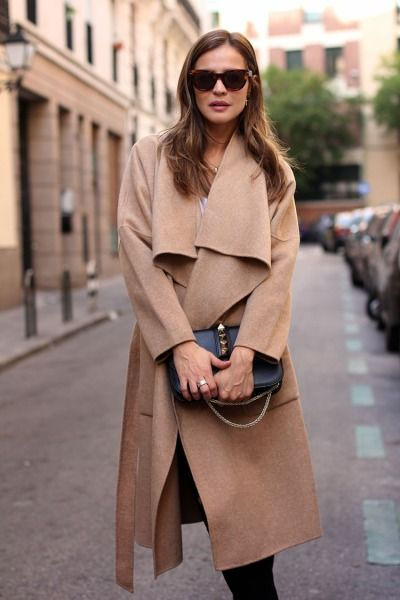 Beige Wool Coat | Street Style