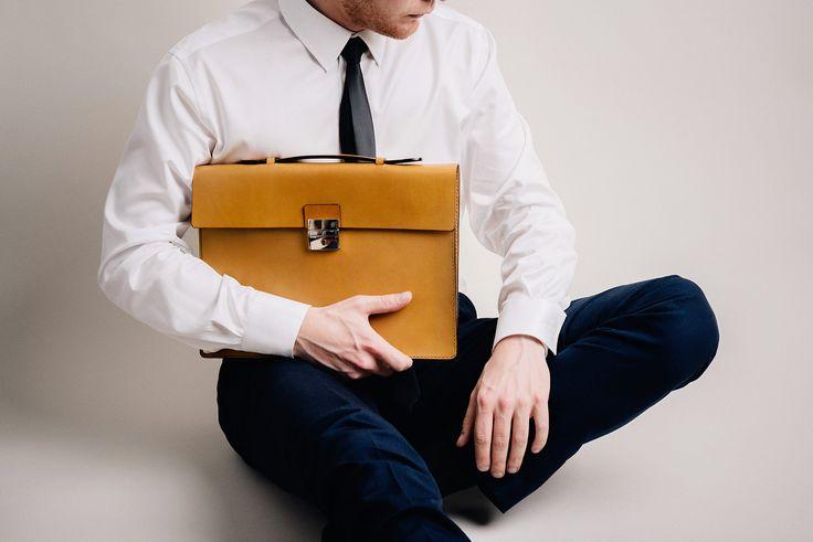 BROMMA briefcase / mustard