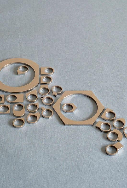 Modern Geometric Jewelry by OFORM -