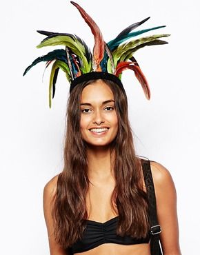 Montezuma's revenge:  feathered festival head-dress ...  (image from asos)