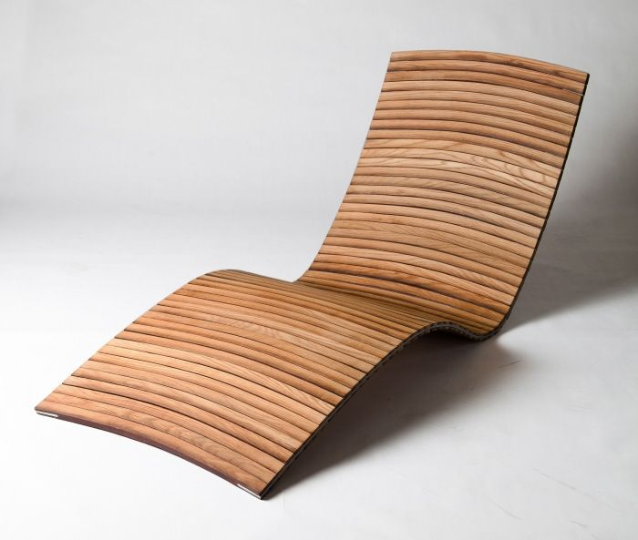 Tannin Lounger, by Kieran Ball - constructed of recycled wine barrels