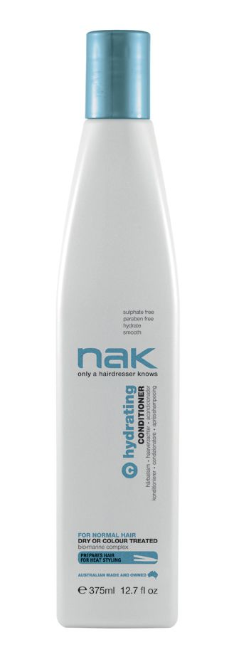 nak hydrating conditioner / designed for normal hair - dry or colour treated #sulphatefree #parabenfree #hydrate #smooth