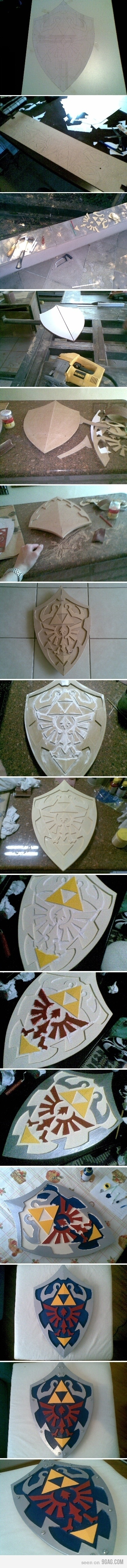 Making an hylian shield. I may have to do this.