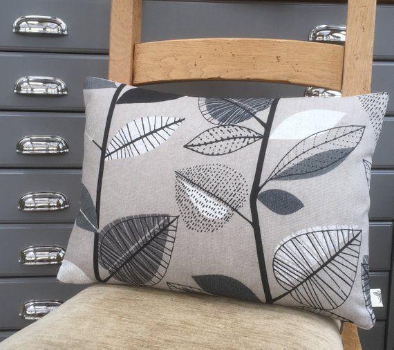 Best Cushions For Sofa Leaf Print Cushion Grey Retro Style 400 x 300