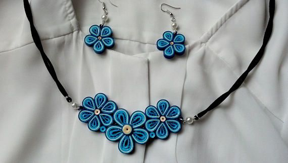 Hey, I found this really awesome Etsy listing at https://www.etsy.com/listing/523042832/quilling-jewelry-elegant-jewelry-blue