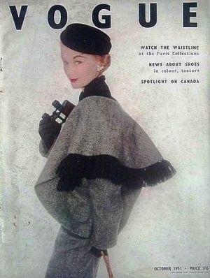 Vintage Vogue magazine covers - mylusciouslife.com - Vintage Vogue UK October 1951.jpg