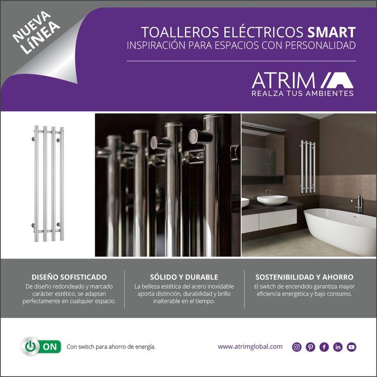Nuevo Modelo!!! Toallero Eléctrico Smart con switch de encendido para ahorro de energía.  Diseño y confort para tus baños. Elaborados en #Acero #inoxidable. Conocé toda la Línea →http://bit.ly/2sPDOid #atrim #toalleros #electricos #smart #compact #compactos #espacios #ahorro #energia #tecla #encendido #apagado #Spa #acero #inoxidable