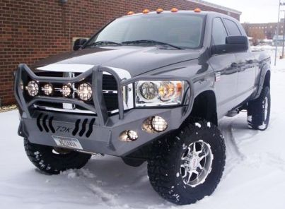 TDK Bumper on a Dodge pure awesome, my other home Montana, and a sweet truck!