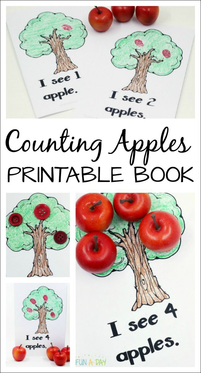 Use this free printable book during a preschool or kindergarten apple theme…