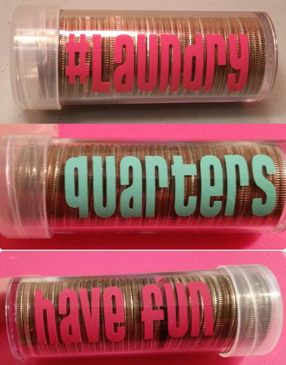 Personalized quarter tubes! Perfect for vacation (vending machine and arcade change!) or going away to college LAUNDRY change!! Great kid gifts and college gifts!