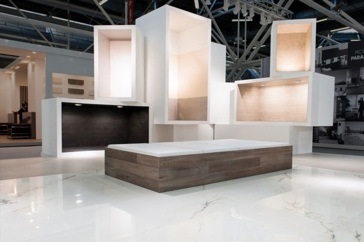 Ariostea surface container at Cersaie 2013 by Marco Porpora, Bologna   Italy trade fairs