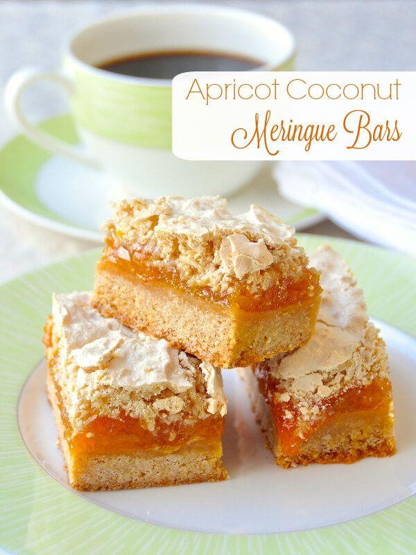 Apricot Coconut Meringue Bars