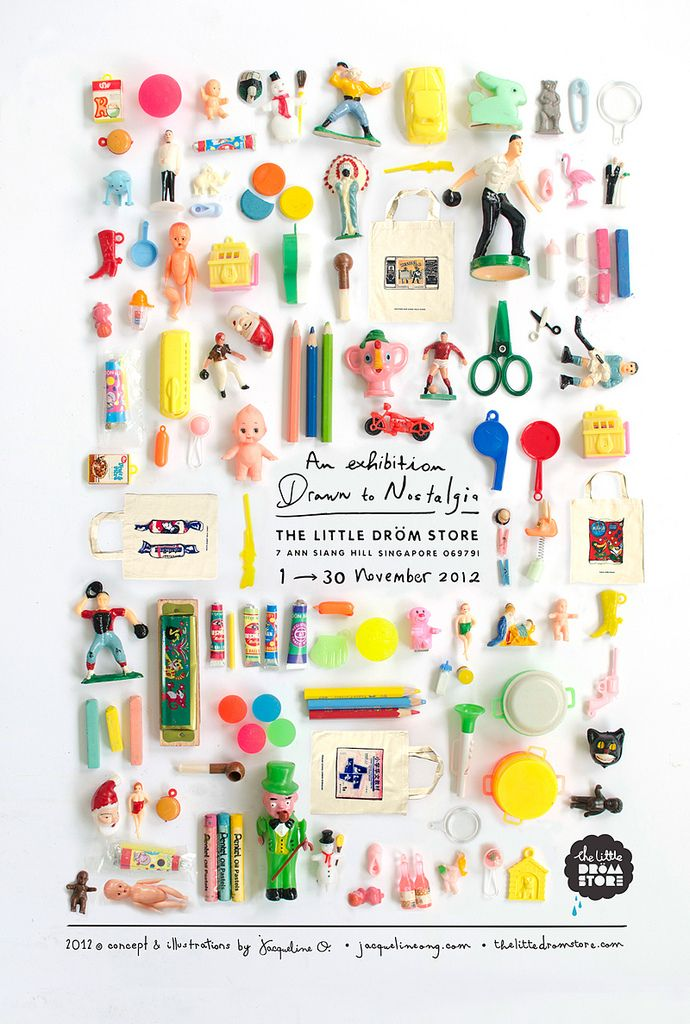 シンガポールの小物屋さんのイベントポスター。かわいいな。(via the little dröm store)