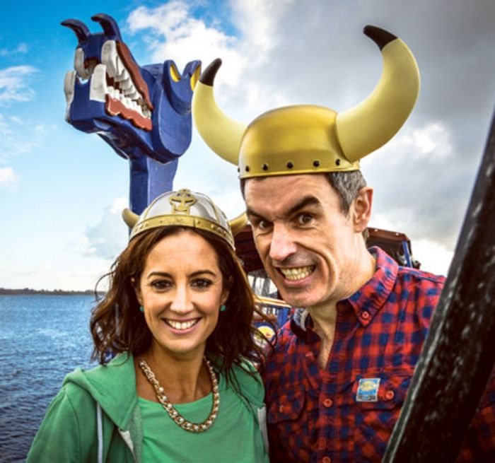 Ciara and Jon from the Holiday Show try out the Viking Cruise on Lough Ree!