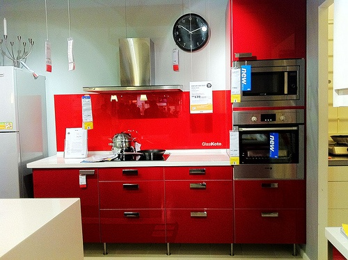 Ikea Kitchen Countertops >> Ikea red kitchen | For the kitchen | Kitchen cabinets, Kitchen, Red kitchen