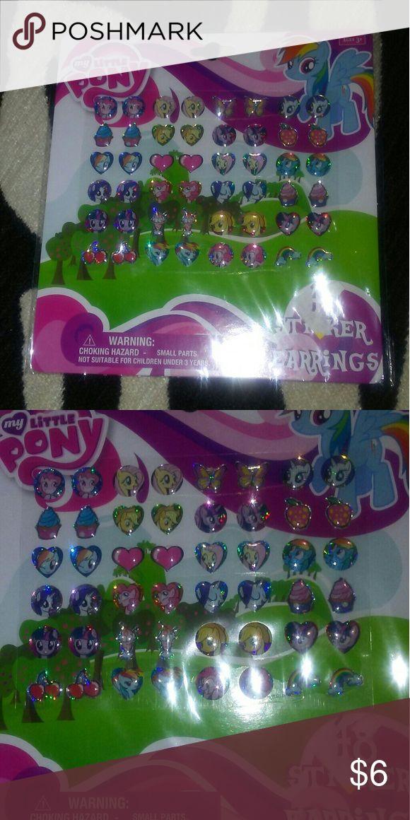 48 My Little Pony Sticker Earrings Twenty four pair of My Little Pony sticker earrings. My Little Pony Accessories Jewelry
