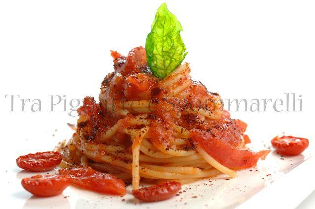 Tra Pignatte e Sgommarelli: Le mie ricette - Vermicelli al pomodoro 4x4
