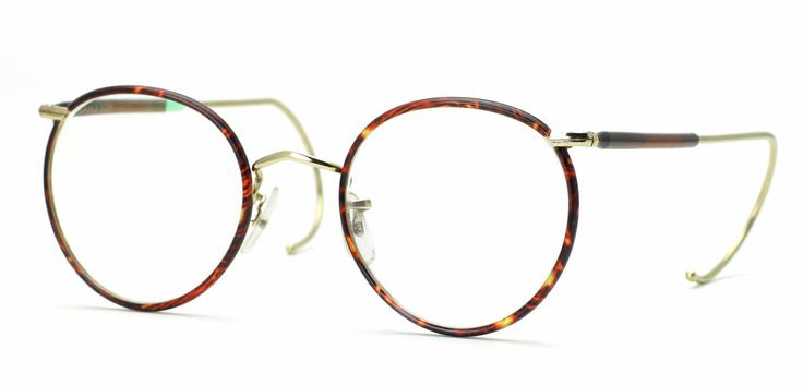 Savile Row 18Kt Beaufort - Half Covered Cable Temples Eyeglasses