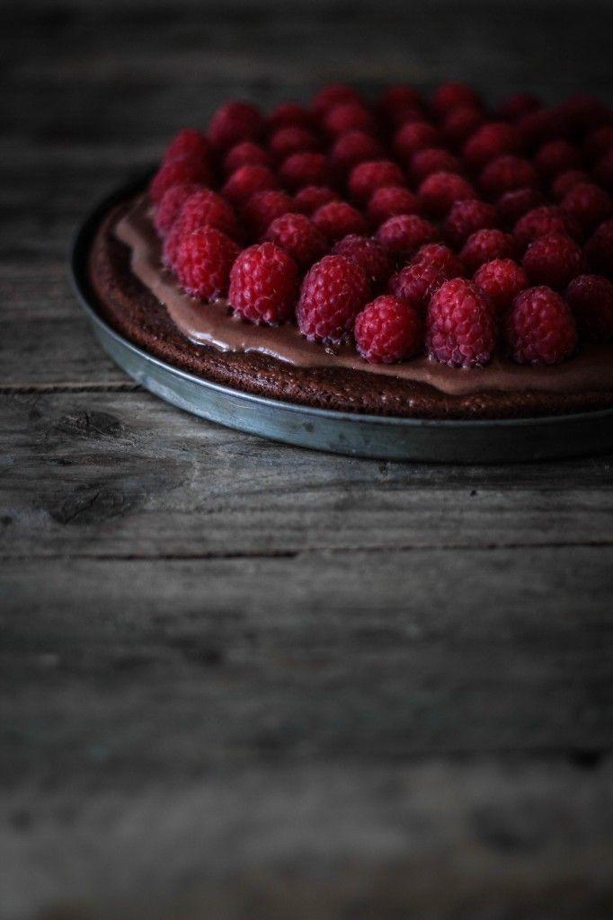 Chocolate raspberry tart / chokoladetærte med hindbær