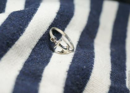 Кольца ручной работы. Ярмарка Мастеров - ручная работа. Купить Кольцо с якорем. Handmade. Серебряный, кольцо, серебро