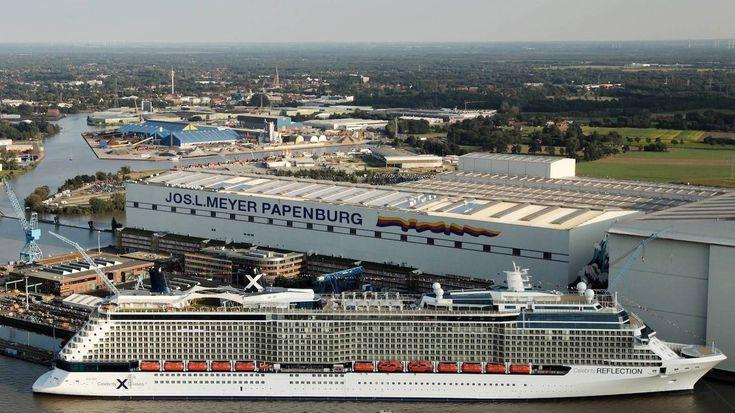 El muelle cubierto de Meyer Werft