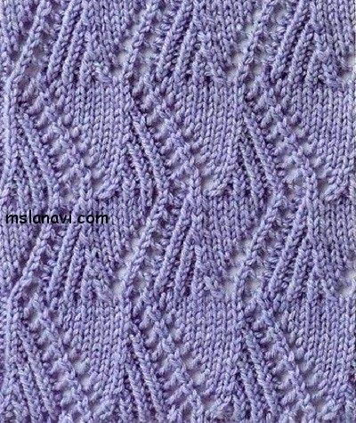 Zig Zag Stitch Knitting Loom : Charted lace zigzag stitch. Knitting stitches Pinterest Lace and Stitches