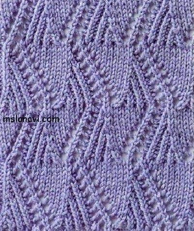 Zig Zag Stitch Knitting Loom : Charted lace zigzag stitch. Knitting stitches Pinterest Lace and Stitches