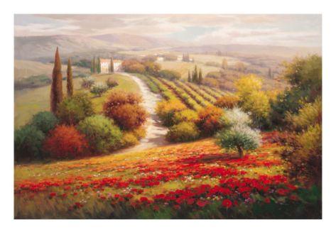 Vineyard View I Giclee Print by Roberto Lombardi at Art.com