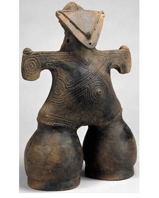 Dogu are from the earliest-dated tradition of pottery manufacture in the world, dating to the prehistoric Jomon period, which began 16,000 years ago.