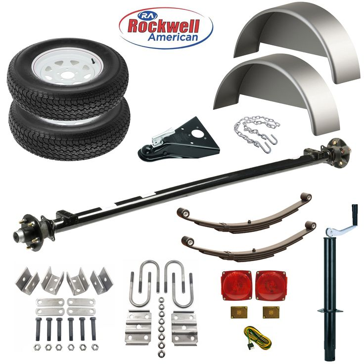 Deluxe Utility Trailer Parts Kit - Model 1108 - Rockwell American 3,500lb Capacity - 4' Wide