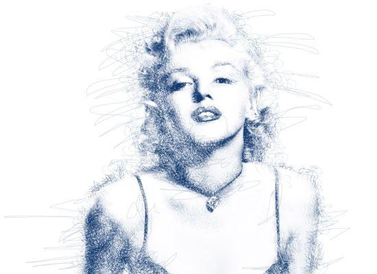 scribble art in photoshop #scribbleart #photoshoptutorial #marylinmonroe