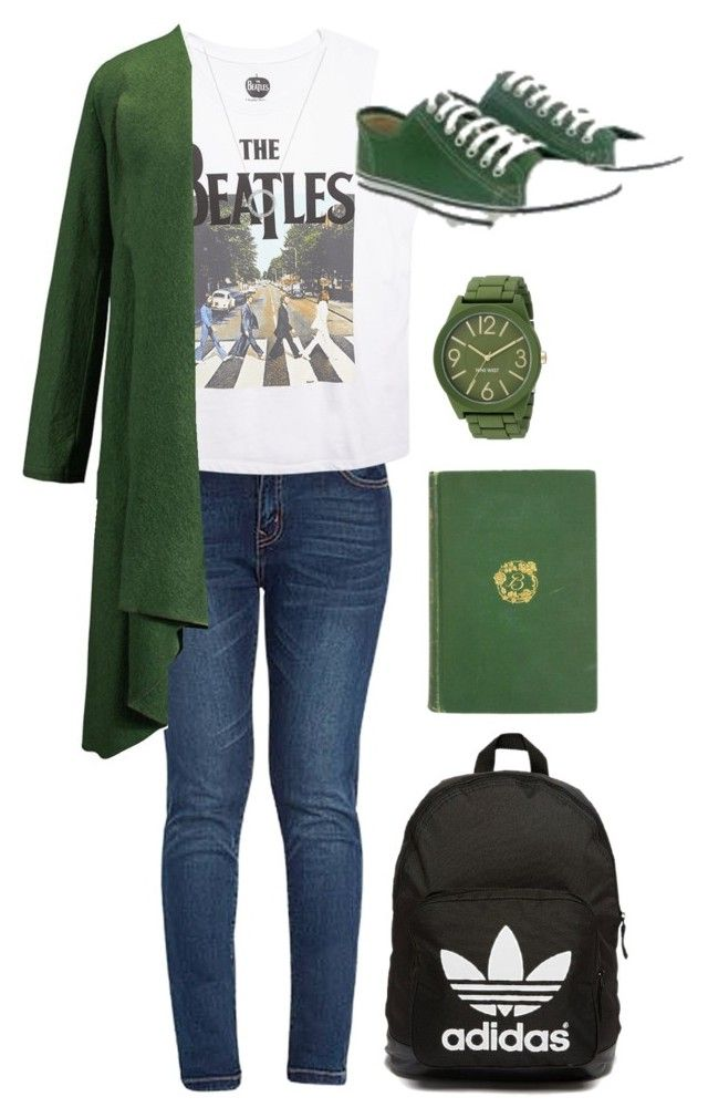 """Szjg<33"" by natko010 ❤ liked on Polyvore featuring Wet Seal, WithChic, Ethletic, adidas Originals, Michael Kors and Nine West"