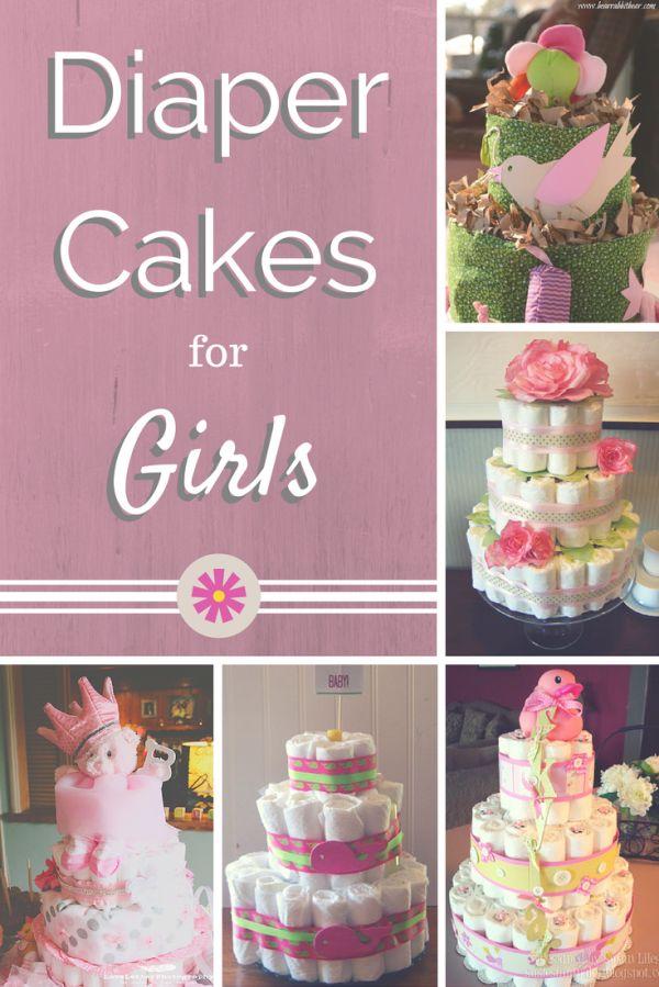 Cute Diaper Cakes for Girls