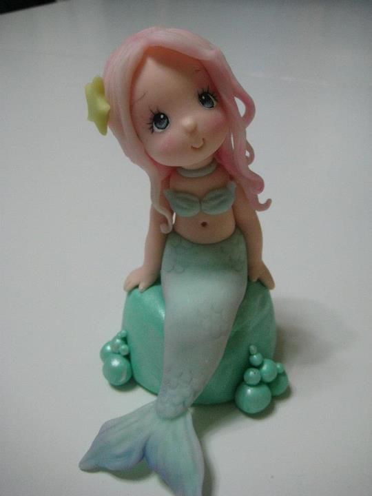 Mermaid, I have learned the best clay tuts are one's for cake decorating!
