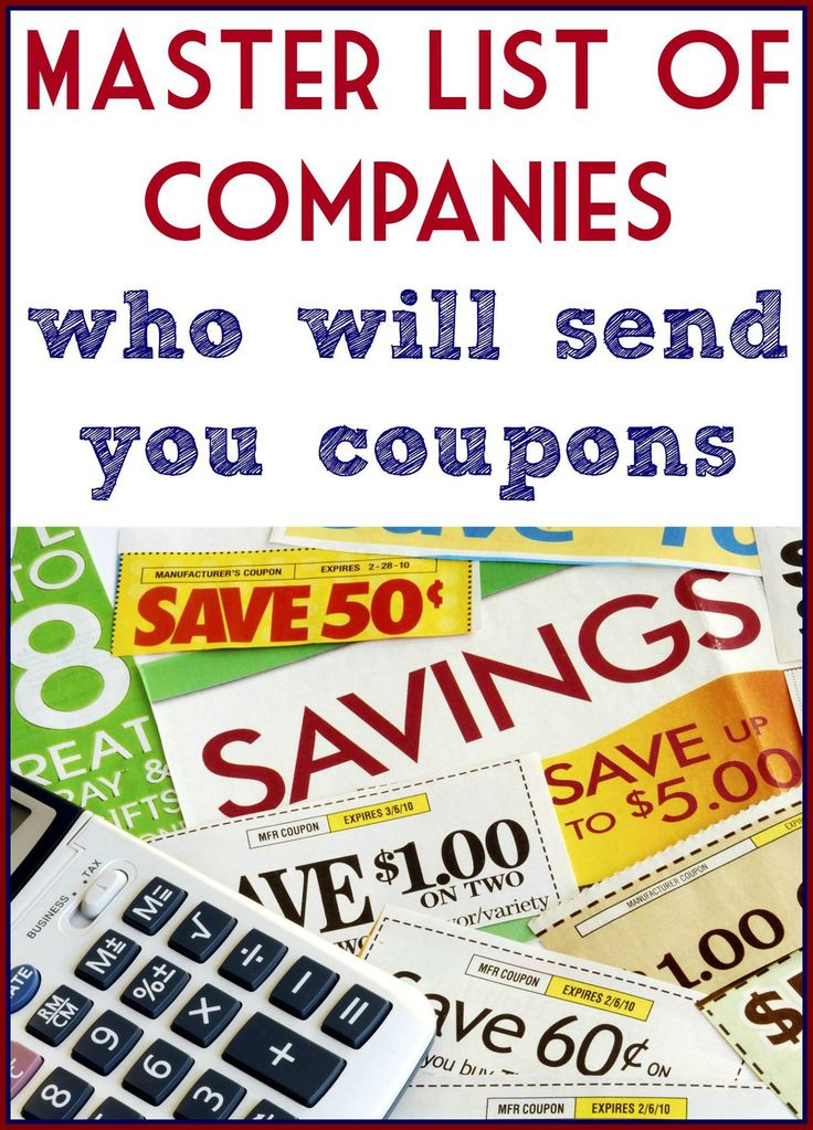 Companies that will mail you coupons