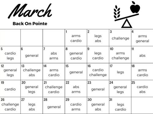 backonpointe: March calendar