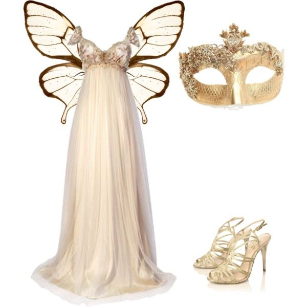 Butterfly Masquerade, created by meliciamagic on Polyvore