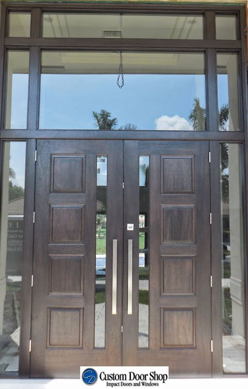 Large Double Front Doors With Sidelights And Transom