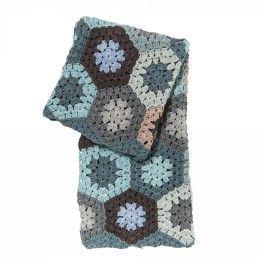 Hæklet Babytæppe - Pastel Blå