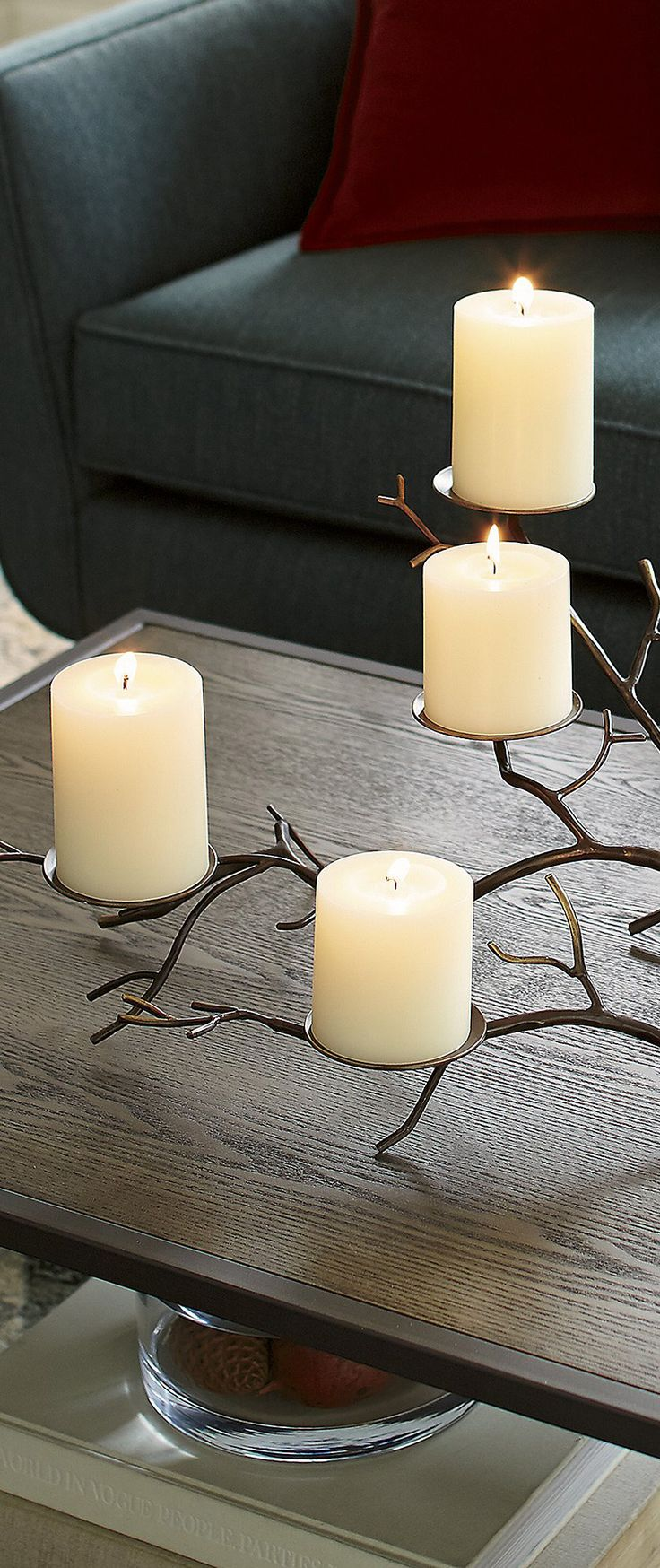 Modern Rustic Candle Holder