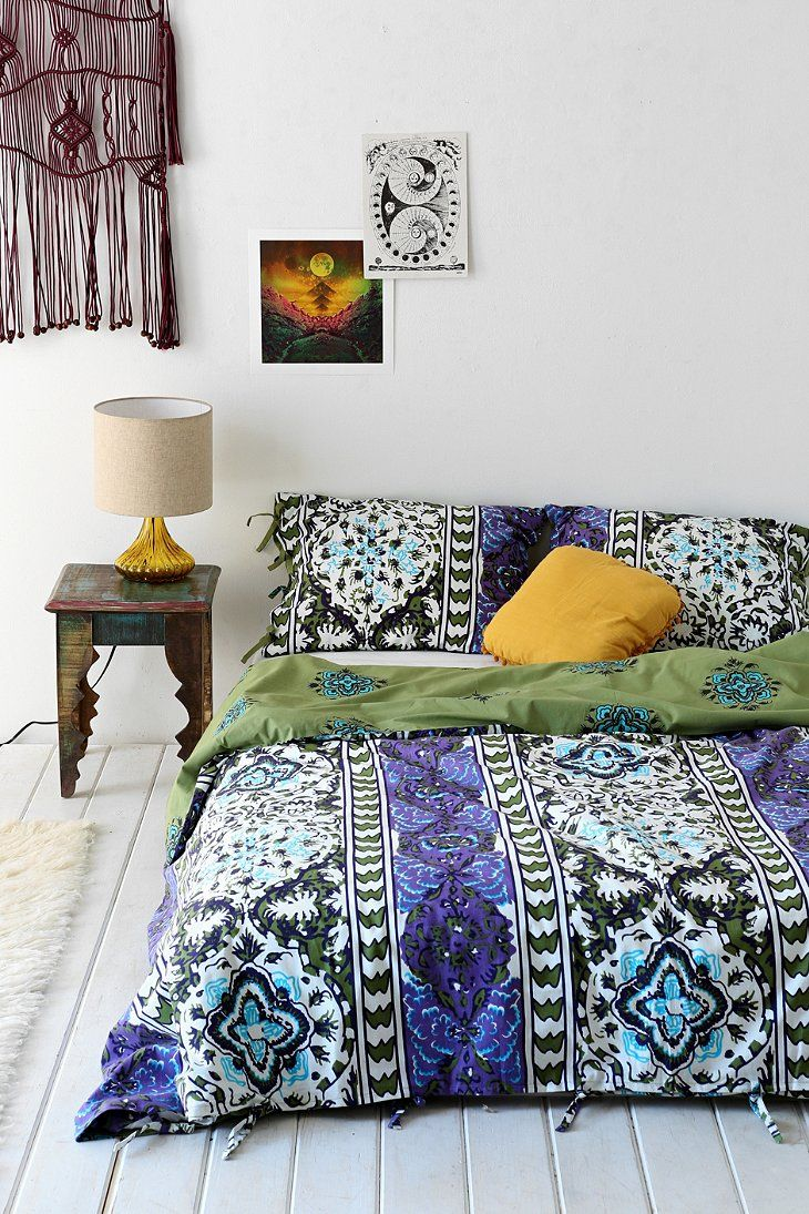 Magical thinking boho stripe duvet cover duvet magical Magical thinking bedding