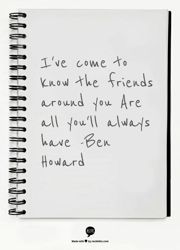 127 best Ben Howard images on Pinterest | Lyrics, Music lyrics and ...