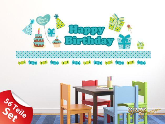 Beautiful Wandsticker Wandtattoo Kinderzimmer Geburtstag