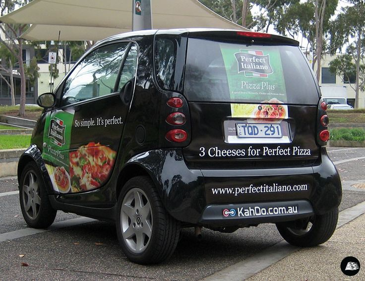 Ad Campaign, Food Product Advertising, Perfect Italiano, Smart Car Wrap