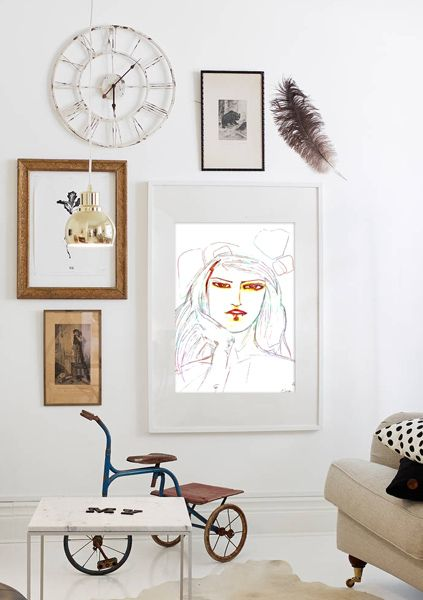 'Girl Uninterrupted' art print now available for sale! We ship worldwide. http://customwebdesignseo.com/product/girl-uninterrupted-art-print-mini/ … #artprint #homedecor