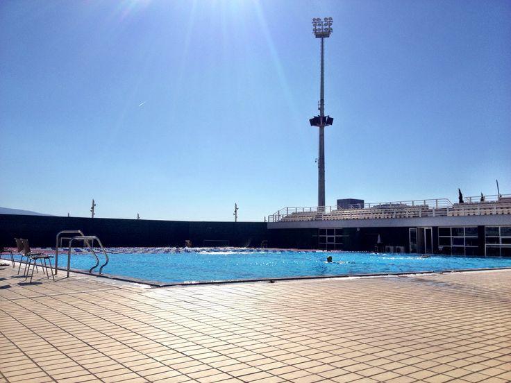 Oaka outdoor pool workout