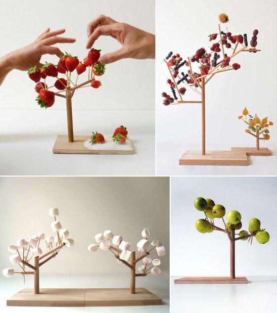 Mangier serving tree for finger food by french designer for Alif tree french cuisine