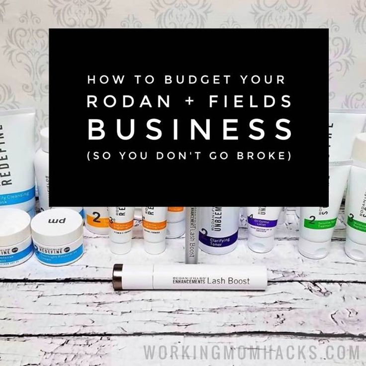 Have a Rodan + Fields direct selling business or thinking of starting one? Learn how to budget your Rodan + Fields income and expenses so you don't go broke!
